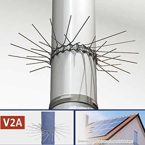 Marder-Schutz für Fallrohre bis zu Ø 100mm (V2A) - individuell anpassbar durch Stecksystem der Gürtelglieder -